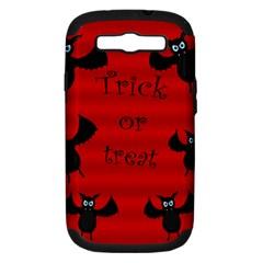 Halloween bats  Samsung Galaxy S III Hardshell Case (PC+Silicone)
