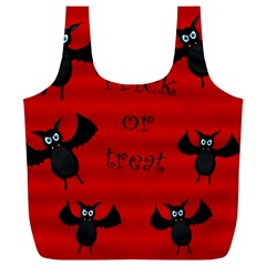 Halloween bats  Full Print Recycle Bags (L)