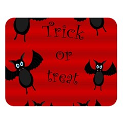 Halloween bats  Double Sided Flano Blanket (Large)