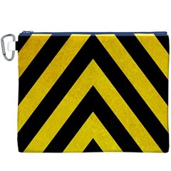 Construction Hazard Stripes Canvas Cosmetic Bag (XXXL)