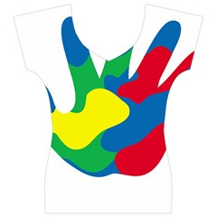 Creativity Painted Hand Copy Women s V-Neck Cap Sleeve Top