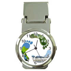 Footprint Recycle Sign Money Clip Watches