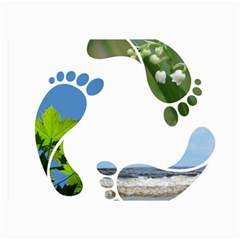 Footprint Recycle Sign Collage Prints