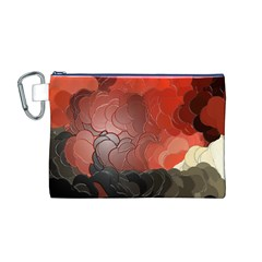 Abstract Spectrum Canvas Cosmetic Bag (M)
