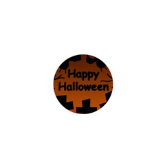 Happy Halloween - bats on the cemetery 1  Mini Buttons