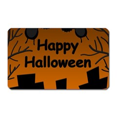 Happy Halloween - bats on the cemetery Magnet (Rectangular)