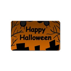 Happy Halloween - bats on the cemetery Magnet (Name Card)