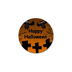Happy Halloween - bats on the cemetery Golf Ball Marker (10 pack)