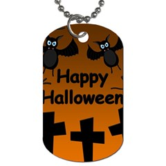 Happy Halloween - bats on the cemetery Dog Tag (Two Sides)