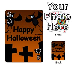 Happy Halloween - bats on the cemetery Playing Cards 54 Designs