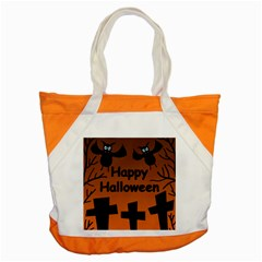 Happy Halloween - bats on the cemetery Accent Tote Bag