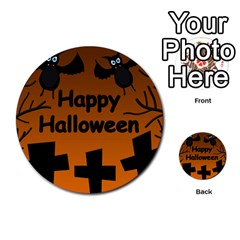 Happy Halloween - bats on the cemetery Multi-purpose Cards (Round)