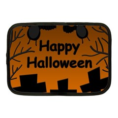 Happy Halloween - bats on the cemetery Netbook Case (Medium)