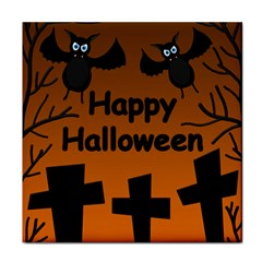 Happy Halloween - bats on the cemetery Face Towel