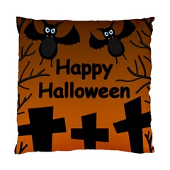 Happy Halloween - bats on the cemetery Standard Cushion Case (Two Sides)