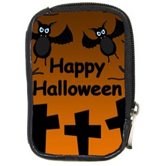 Happy Halloween - bats on the cemetery Compact Camera Cases