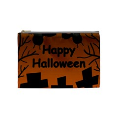 Happy Halloween - bats on the cemetery Cosmetic Bag (Medium)