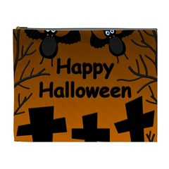 Happy Halloween - bats on the cemetery Cosmetic Bag (XL)