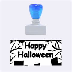 Happy Halloween - bats on the cemetery Rubber Stamps (Medium)