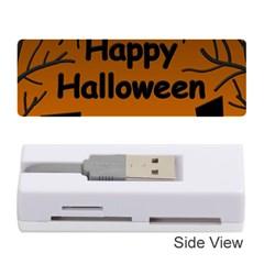 Happy Halloween - bats on the cemetery Memory Card Reader (Stick)