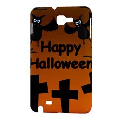 Happy Halloween - bats on the cemetery Samsung Galaxy Note 1 Hardshell Case