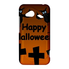 Happy Halloween - bats on the cemetery HTC Droid Incredible 4G LTE Hardshell Case