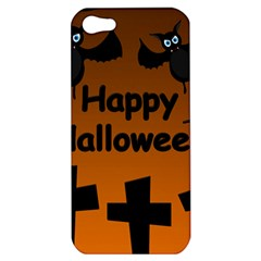Happy Halloween - bats on the cemetery Apple iPhone 5 Hardshell Case