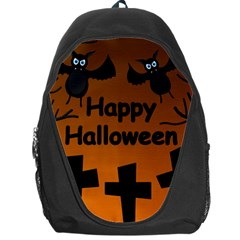 Happy Halloween - bats on the cemetery Backpack Bag