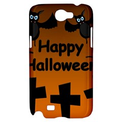 Happy Halloween - bats on the cemetery Samsung Galaxy Note 2 Hardshell Case