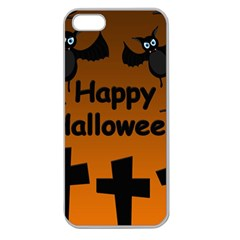 Happy Halloween - bats on the cemetery Apple Seamless iPhone 5 Case (Clear)