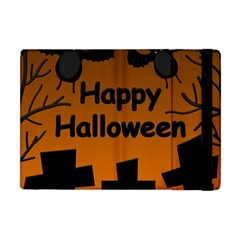Happy Halloween - bats on the cemetery Apple iPad Mini Flip Case