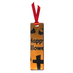 Happy Halloween - bats on the cemetery Small Book Marks
