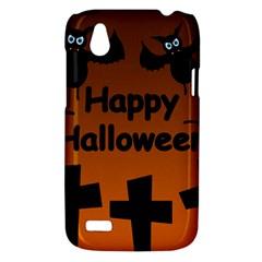 Happy Halloween - bats on the cemetery HTC Desire V (T328W) Hardshell Case