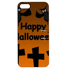 Happy Halloween - bats on the cemetery Apple iPhone 5 Hardshell Case with Stand