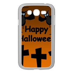Happy Halloween - bats on the cemetery Samsung Galaxy Grand DUOS I9082 Case (White)