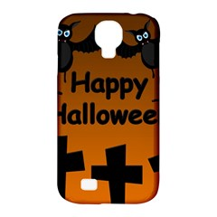 Happy Halloween - bats on the cemetery Samsung Galaxy S4 Classic Hardshell Case (PC+Silicone)