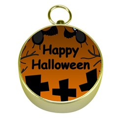 Happy Halloween - bats on the cemetery Gold Compasses