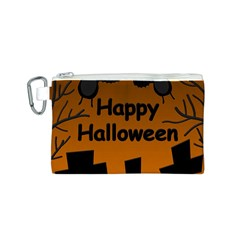 Happy Halloween - bats on the cemetery Canvas Cosmetic Bag (S)