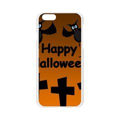 Happy Halloween - bats on the cemetery Apple Seamless iPhone 6/6S Case (Transparent)