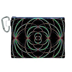 Abstract Spider Web Canvas Cosmetic Bag (XL)