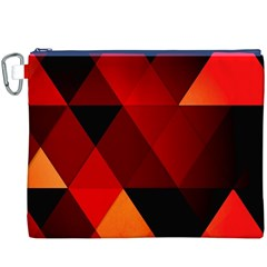 Abstract Triangle Wallpaper Canvas Cosmetic Bag (XXXL)