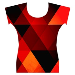 Abstract Triangle Wallpaper Women s Cap Sleeve Top