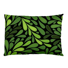 Free Green Nature Leaves Seamless Pillow Case