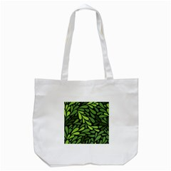 Free Green Nature Leaves Seamless Tote Bag (White)