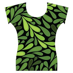 Free Green Nature Leaves Seamless Women s Cap Sleeve Top