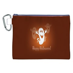 Funny Halloween Canvas Cosmetic Bag (XXL)