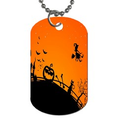 Halloween Day Dog Tag (one Side)