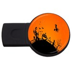 Halloween Day USB Flash Drive Round (4 GB)  Front