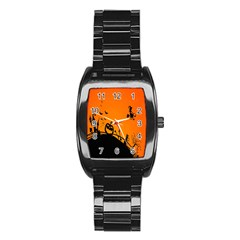 Halloween Day Stainless Steel Barrel Watch