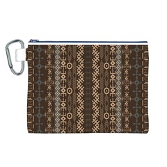 African Style Vector Pattern Canvas Cosmetic Bag (L)